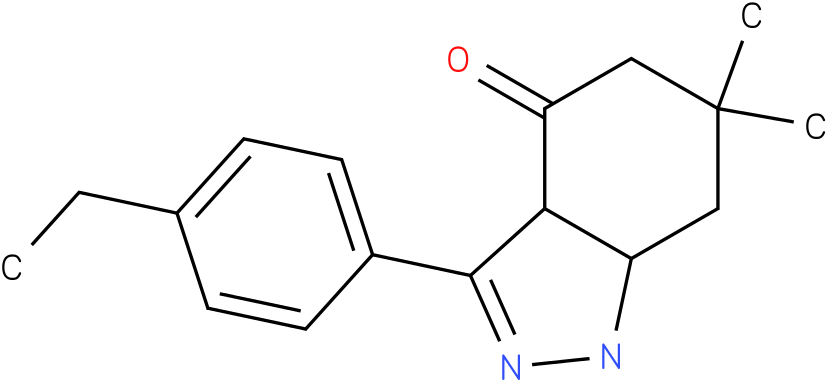3-(4-Ethyl-phenyl)-6,6-dimethyl-1,3a,5,6,7,7a-hexahydro-indazol-4-one