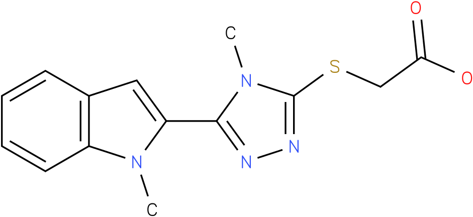 [4-Methyl-5-(1-methyl-1H-indol-2-yl)-4H-[1,2,4]triazol-3-ylsulfanyl]-acetic acid