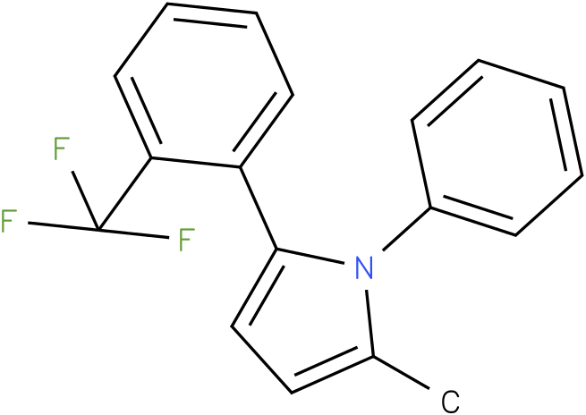 2-Methyl-1-phenyl-5-(2-trifluoromethyl-phenyl)-1H-pyrrole