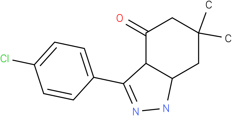 3-(4-Chloro-phenyl)-6,6-dimethyl-1,3a,5,6,7,7a-hexahydro-indazol-4-one