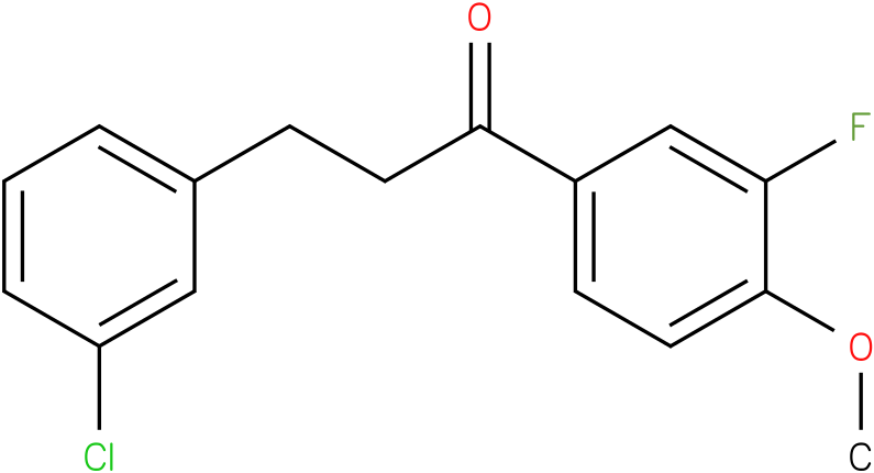 3-(3-Chloro-phenyl)-1-(3-fluoro-4-methoxy-phenyl)-propan-1-one