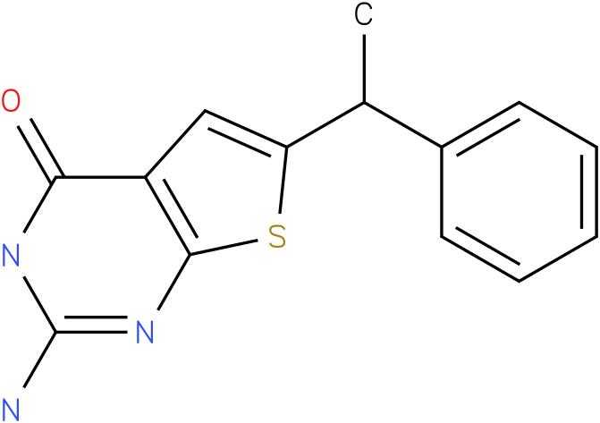 2-Amino-6-(1-phenyl-ethyl)-3H-thieno[2,3-d]pyrimidin-4-one