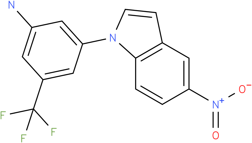 3-(5-Nitro-indol-1-yl)-5-trifluoromethyl-phenylamine