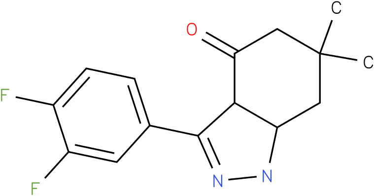 3-(3,4-Difluoro-phenyl)-6,6-dimethyl-1,3a,5,6,7,7a-hexahydro-indazol-4-one