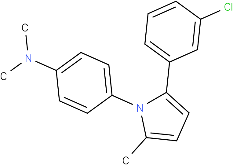 {4-[2-(3-Chloro-phenyl)-5-methyl-pyrrol-1-yl]-phenyl}-dimethyl-amine