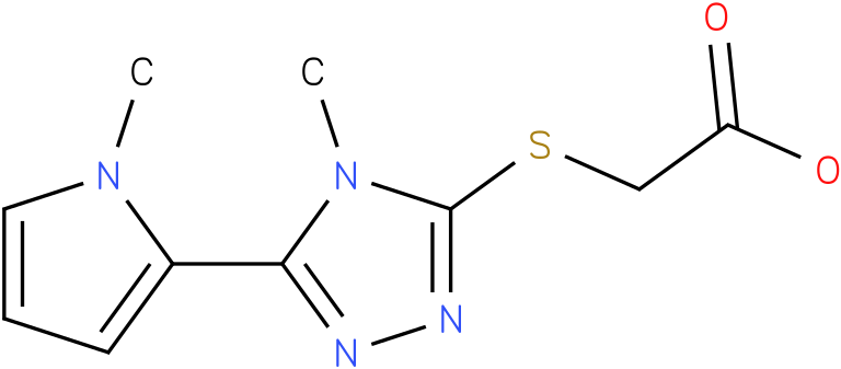[4-Methyl-5-(1-methyl-1H-pyrrol-2-yl)-4H-[1,2,4]triazol-3-ylsulfanyl]-acetic acid