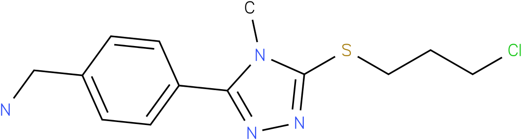 {4-[5-(3-Chloro-propylsulfanyl)-4-methyl-4H-[1,2,4]triazol-3-yl]-phenyl}-methyl-amine