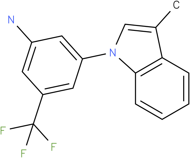 3-(3-Methyl-indol-1-yl)-5-trifluoromethyl-phenylamine
