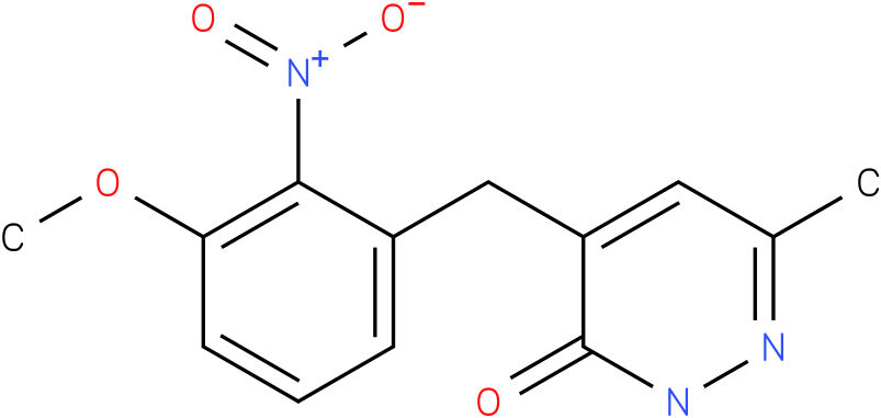 4-(3-Methoxy-2-nitro-benzyl)-6-methyl-2H-pyridazin-3-one