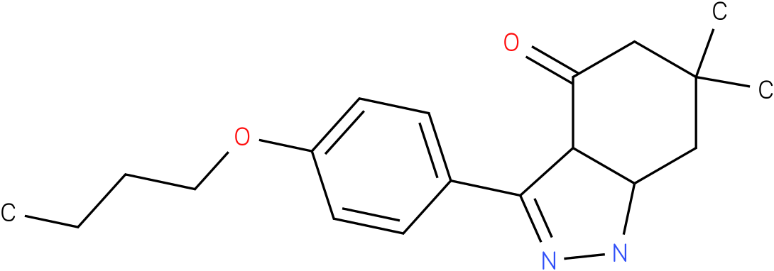 3-(4-Butoxy-phenyl)-6,6-dimethyl-1,3a,5,6,7,7a-hexahydro-indazol-4-one