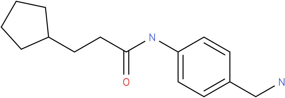 N-(4-Aminomethyl-phenyl)-3-cyclopentyl-propionamide