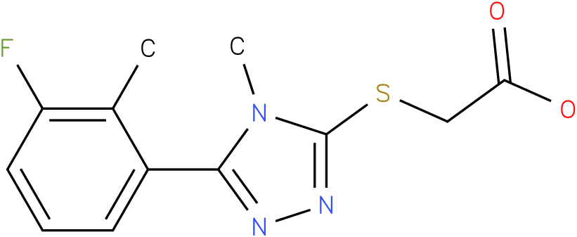 [5-(3-Fluoro-2-methyl-phenyl)-4-methyl-4H-[1,2,4]triazol-3-ylsulfanyl]-acetic acid