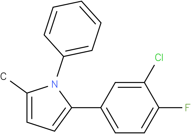 2-(3-Chloro-4-fluoro-phenyl)-5-methyl-1-phenyl-1H-pyrrole
