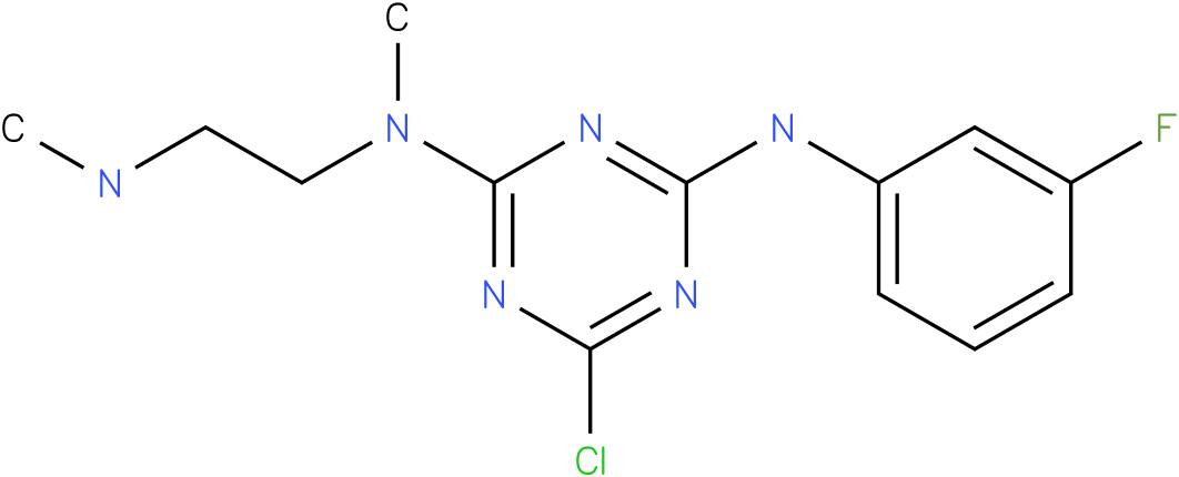 6-Chloro-N-(3-fluoro-phenyl)-N'-methyl-N'-(2-methylamino-ethyl)-[1,3,5]triazine-2,4-diamine