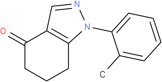 1-o-Tolyl-1,5,6,7-tetrahydro-indazol-4-one