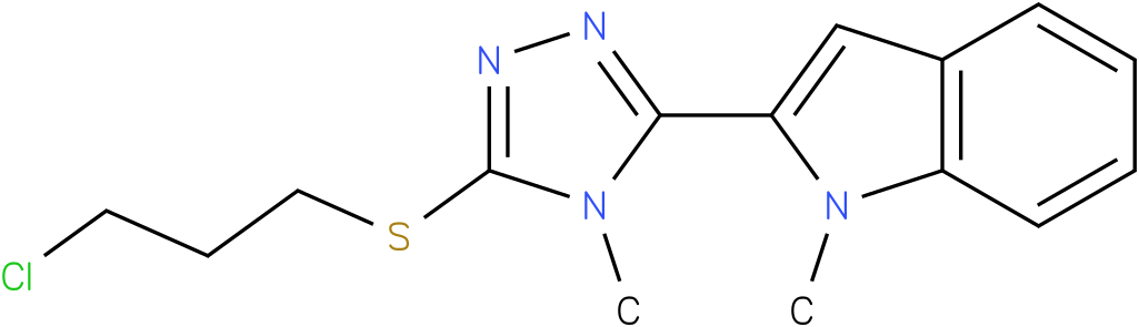 2-[5-(3-Chloro-propylsulfanyl)-4-methyl-4H-[1,2,4]triazol-3-yl]-1-methyl-1H-indole