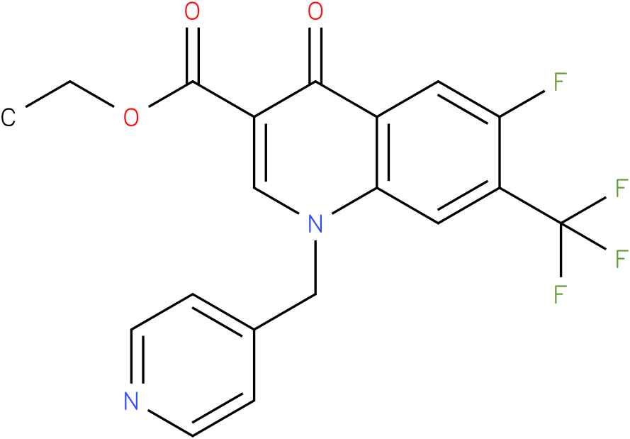 6-Fluoro-4-oxo-1-pyridin-4-ylmethyl-7-trifluoromethyl-1,4-dihydro-quinoline-3-carboxylic acid ethyl ester