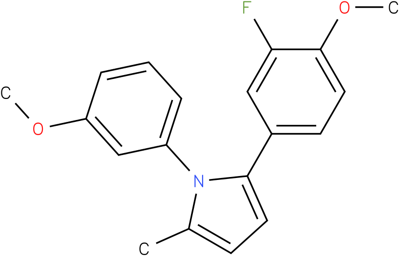 2-(3-Fluoro-4-methoxy-phenyl)-1-(3-methoxy-phenyl)-5-methyl-1H-pyrrole