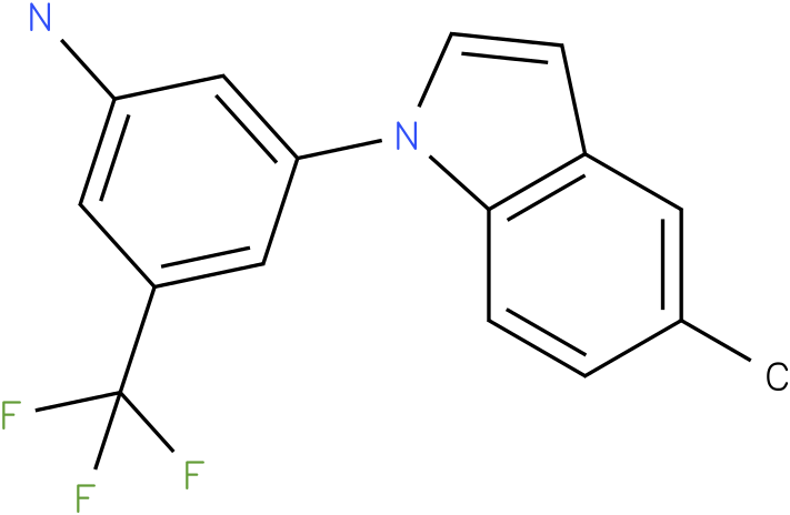 3-(5-Methyl-indol-1-yl)-5-trifluoromethyl-phenylamine