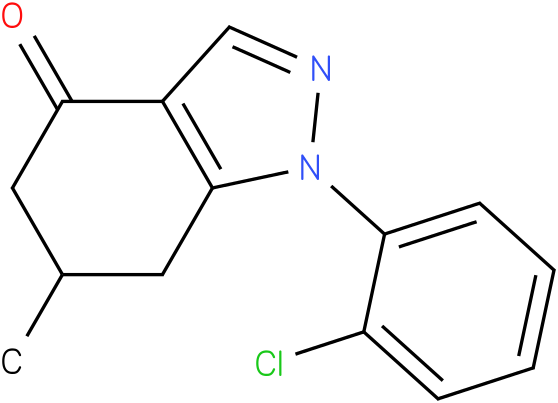 1-(2-Chloro-phenyl)-6-methyl-1,5,6,7-tetrahydro-indazol-4-one
