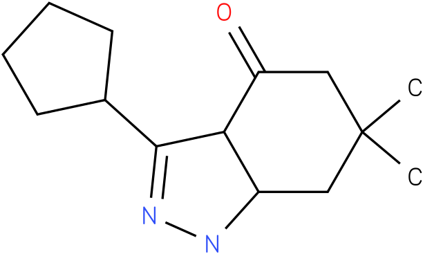 3-Cyclopentyl-6,6-dimethyl-1,3a,5,6,7,7a-hexahydro-indazol-4-one