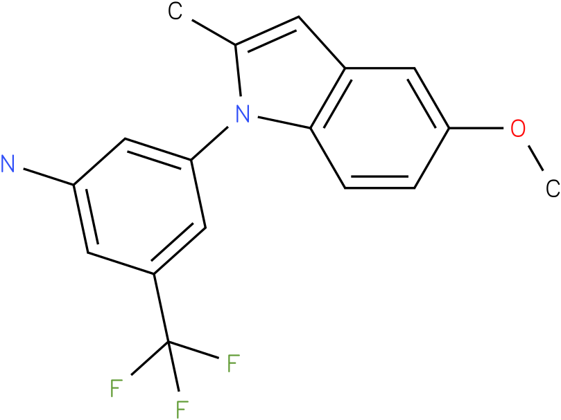 3-(5-Methoxy-2-methyl-indol-1-yl)-5-trifluoromethyl-phenylamine