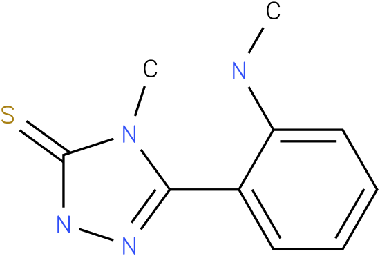 4-Methyl-5-(2-methylamino-phenyl)-2,4-dihydro-[1,2,4]triazole-3-thione