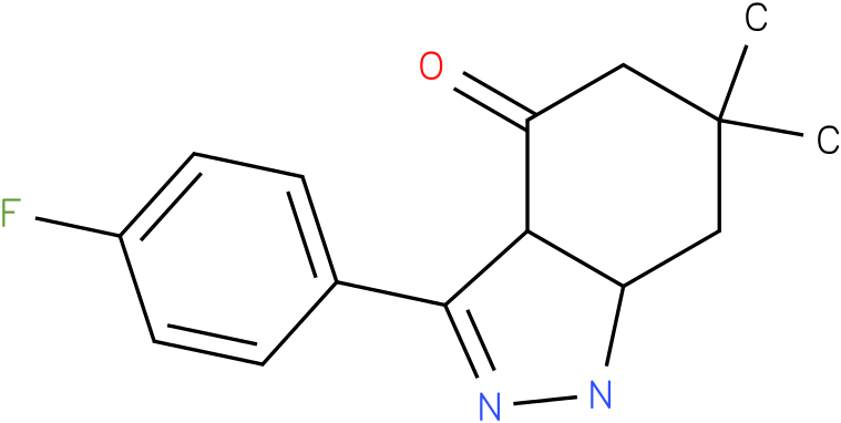3-(4-Fluoro-phenyl)-6,6-dimethyl-1,3a,5,6,7,7a-hexahydro-indazol-4-one