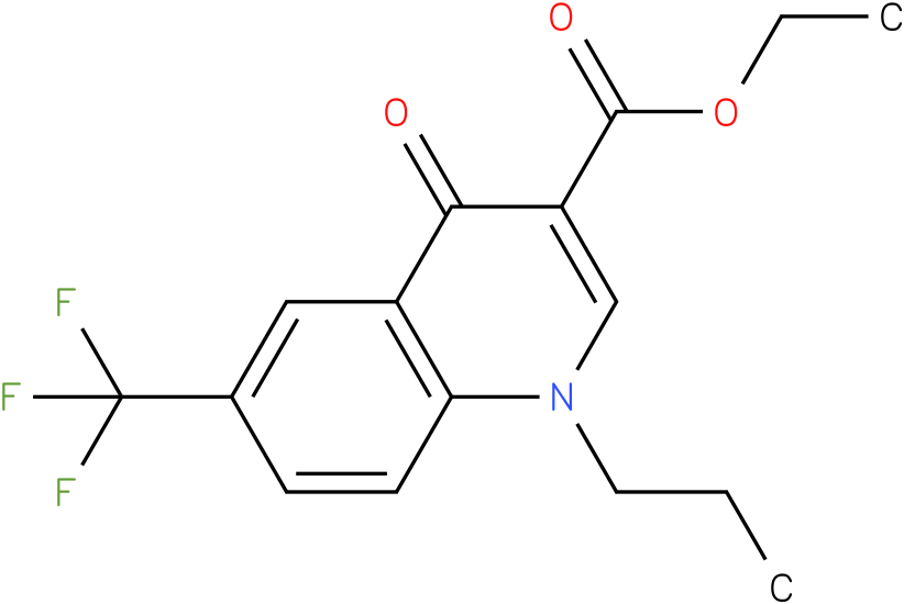 4-Oxo-1-propyl-6-trifluoromethyl-1,4-dihydro-quinoline-3-carboxylic acid ethyl ester