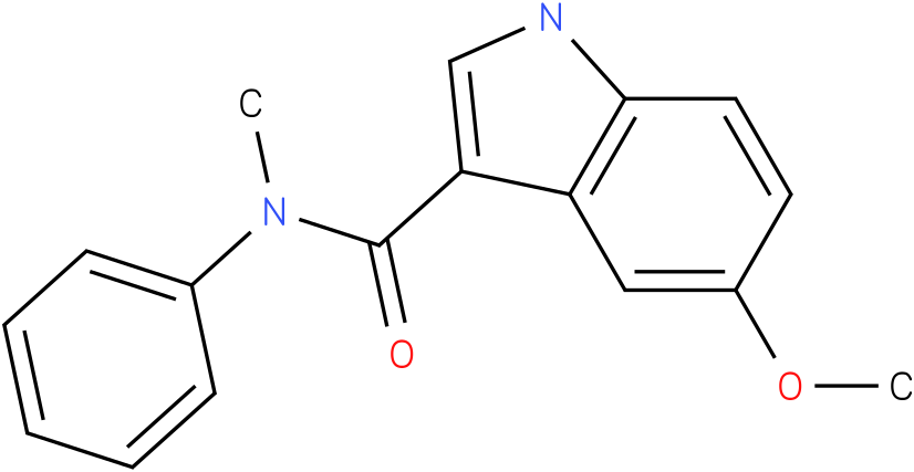 5-Methoxy-1H-indole-3-carboxylic acid methyl-phenyl-amide