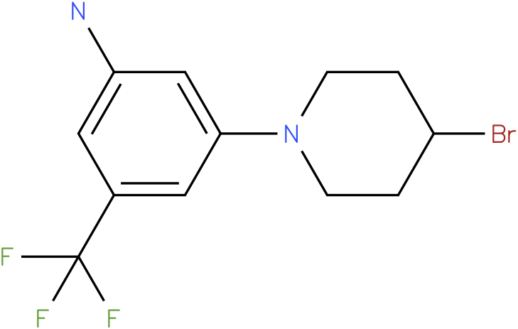 3-(4-Bromo-piperidin-1-yl)-5-trifluoromethyl-phenylamine