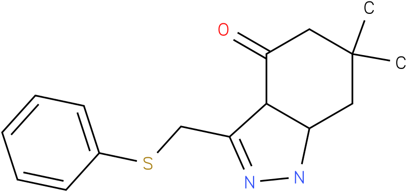 6,6-Dimethyl-3-phenylsulfanylmethyl-1,3a,5,6,7,7a-hexahydro-indazol-4-one