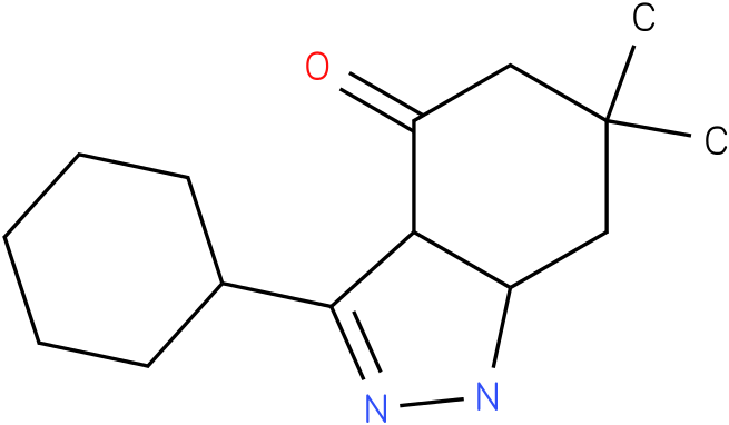 3-Cyclohexyl-6,6-dimethyl-1,3a,5,6,7,7a-hexahydro-indazol-4-one