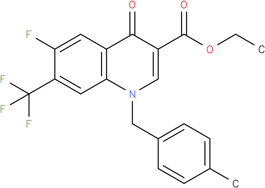6-Fluoro-1-(4-methyl-benzyl)-4-oxo-7-trifluoromethyl-1,4-dihydro-quinoline-3-carboxylic acid ethyl ester