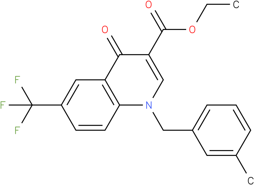 1-(3-Methyl-benzyl)-4-oxo-6-trifluoromethyl-1,4-dihydro-quinoline-3-carboxylic acid ethyl ester