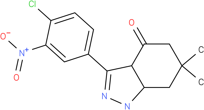 3-(4-Chloro-3-nitro-phenyl)-6,6-dimethyl-1,3a,5,6,7,7a-hexahydro-indazol-4-one