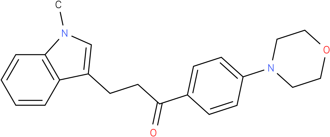 3-(1-Methyl-1H-indol-3-yl)-1-(4-morpholin-4-yl-phenyl)-propan-1-one