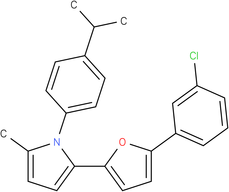 2-[5-(3-Chloro-phenyl)-furan-2-yl]-1-(4-isopropyl-phenyl)-5-methyl-1H-pyrrole