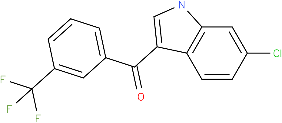 (6-Chloro-1H-indol-3-yl)-(3-trifluoromethyl-phenyl)-methanone