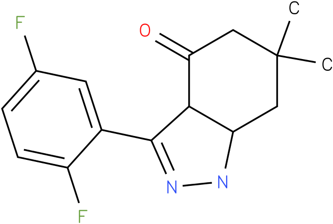 3-(2,5-Difluoro-phenyl)-6,6-dimethyl-1,3a,5,6,7,7a-hexahydro-indazol-4-one