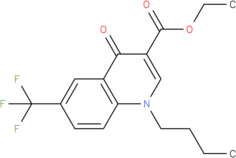 1-Butyl-4-oxo-6-trifluoromethyl-1,4-dihydro-quinoline-3-carboxylic acid ethyl ester