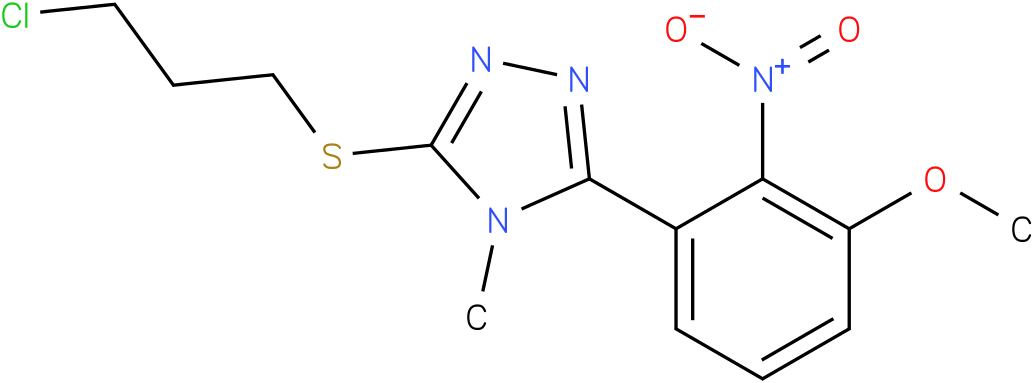 3-(3-Chloro-propylsulfanyl)-5-(3-methoxy-2-nitro-phenyl)-4-methyl-4H-[1,2,4]triazole