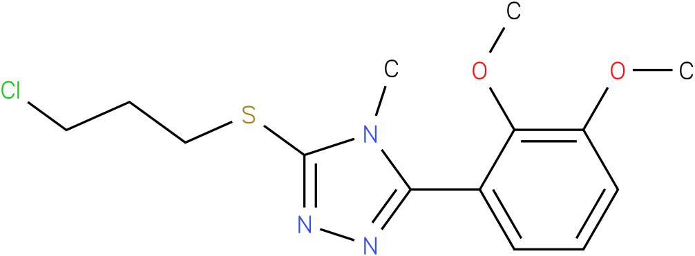 3-(3-Chloro-propylsulfanyl)-5-(2,3-dimethoxy-phenyl)-4-methyl-4H-[1,2,4]triazole