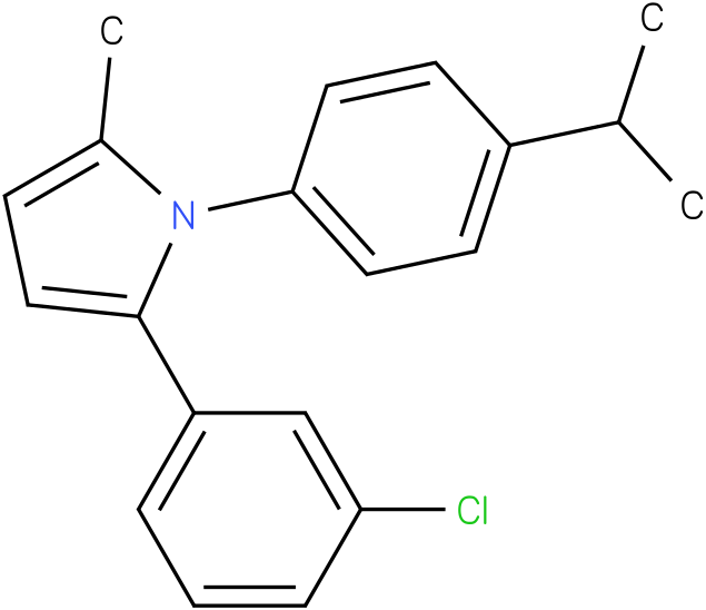 2-(3-Chloro-phenyl)-1-(4-isopropyl-phenyl)-5-methyl-1H-pyrrole
