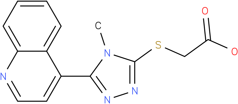 (4-Methyl-5-quinolin-4-yl-4H-[1,2,4]triazol-3-ylsulfanyl)-acetic acid