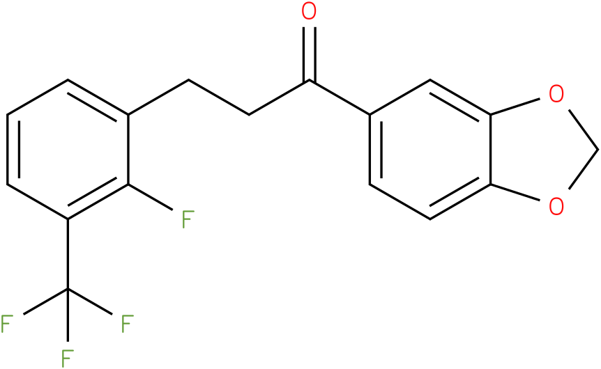 1-Benzo[1,3]dioxol-5-yl-3-(2-fluoro-3-trifluoromethyl-phenyl)-propan-1-one