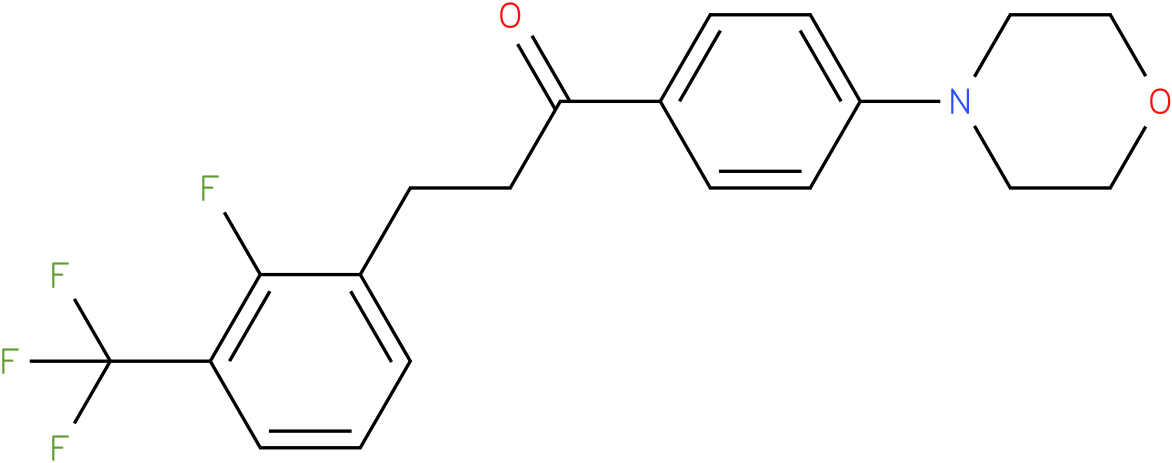 3-(2-Fluoro-3-trifluoromethyl-phenyl)-1-(4-morpholin-4-yl-phenyl)-propan-1-one