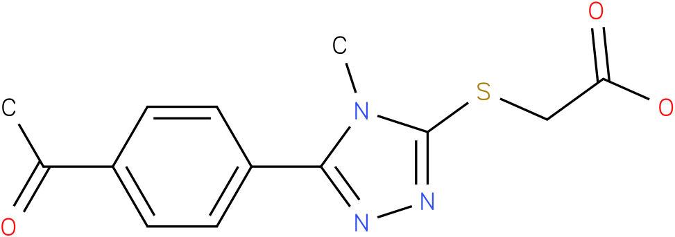 [5-(4-Acetyl-phenyl)-4-methyl-4H-[1,2,4]triazol-3-ylsulfanyl]-acetic acid