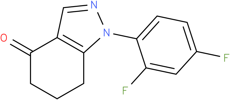 1-(2,4-Difluoro-phenyl)-1,5,6,7-tetrahydro-indazol-4-one