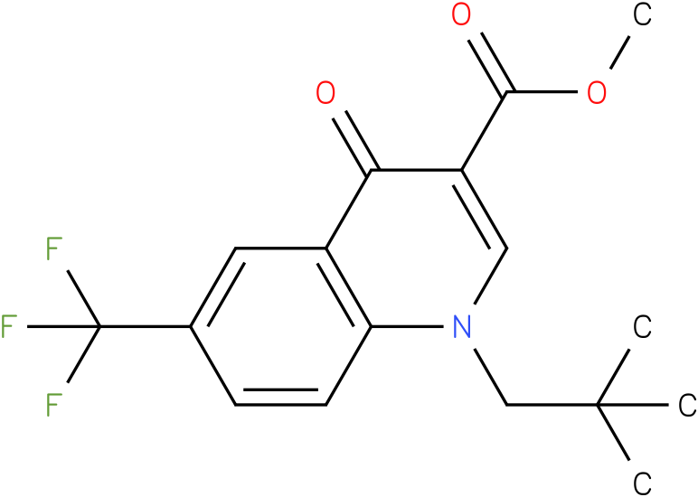 1-(2,2-Dimethyl-propyl)-4-oxo-6-trifluoromethyl-1,4-dihydro-quinoline-3-carboxylic acid ethyl ester